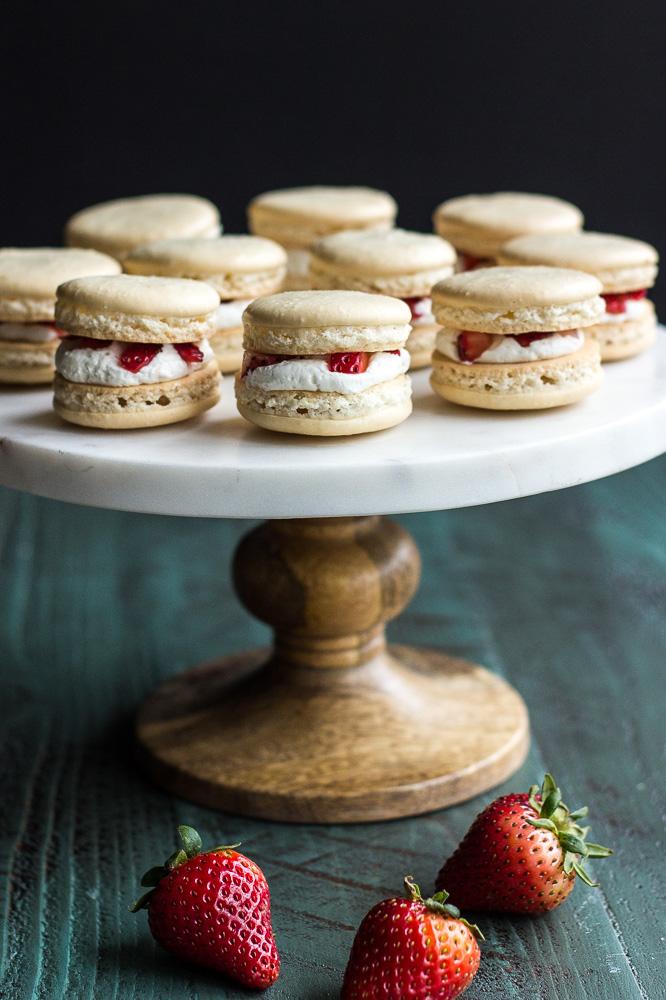 Strawberry Shortcake Macarons