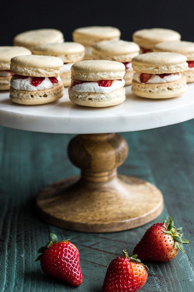 Strawberry Shortcake Macarons |