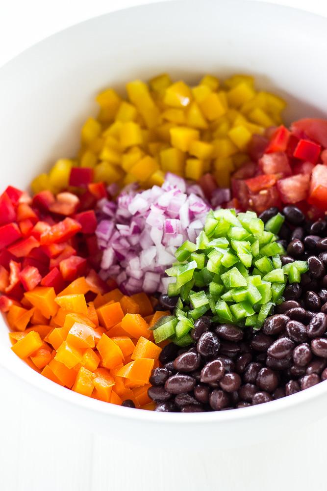Corn Fritters with Garden Black Bean Salsa