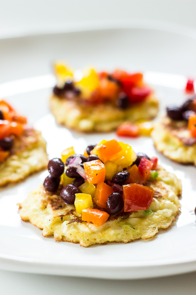 Corn Fritters with Garden Black Bean Salsa